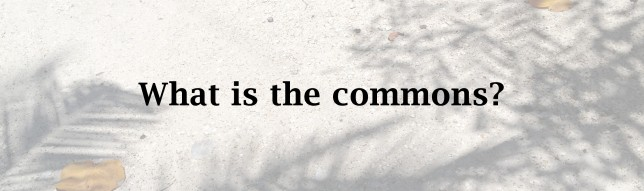 What is the commons? (1) copy