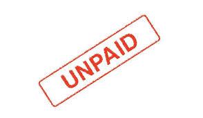Unpaid, stamp